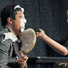Pie: North student Will Rupert takes a pie in the face from Thuy Nguyn during Monday's dress rehearsal.