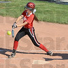 Contact: South's #2 Alexis Higgins gets a base hit during Wednesday's sectional final againt Plainfield. Plainfield was a 1-0 winner of the contest.