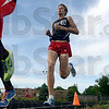 Tribune-Star/Joseph C. Garza<br /> Drafting maybe: Terre Haute South's Logan Hambrock stays on the heels of teammate Jackson Bertoli, and like in his Big 4 performance, eventually passed Bertoli on the last lap of the boys 1600-meter race to win Tuesday at South.