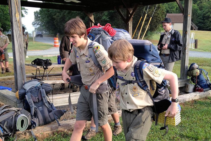 At YLT Shakedown, Belk Scout Camp