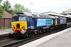 31 May 2012 :: 57002 & 57309 pass through Basingstoke station as train 0Z35 from Eastleigh to Crewe