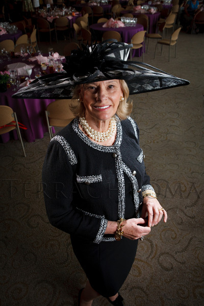 "Susan Kiely.  ""Women With Hattitude--Act Seven,"" benefiting the Denver Center for Perfroming Arts' Women's Voices Fund, at the Donald R. Seawell Grand Ballroom, Denver Center for Performing Arts, in Denver, Colorado, on Thursday, May 3, 2012.<br /> Photo Steve Peterson"