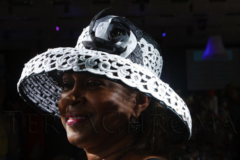 "Gloria Taylor.  ""Women With Hattitude--Act Seven,"" benefiting the Denver Center for Perfroming Arts' Women's Voices Fund, at the Donald R. Seawell Grand Ballroom, Denver Center for Performing Arts, in Denver, Colorado, on Thursday, May 3, 2012.<br /> Photo Steve Peterson"