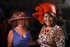 """Terri Fisher and Juanita Chacon.  """"Women With Hattitude--Act Seven,"""" benefiting the Denver Center for Perfroming Arts' Women's Voices Fund, at the Donald R. Seawell Grand Ballroom, Denver Center for Performing Arts, in Denver, Colorado, on Thursday, May 3, 2012.<br /> Photo Steve Peterson"""
