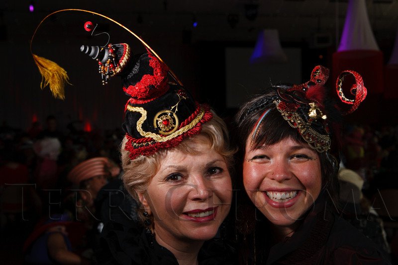 "Lorraine Salazar and her daughter, Stephinity.  ""Women With Hattitude--Act Seven,"" benefiting the Denver Center for Perfroming Arts' Women's Voices Fund, at the Donald R. Seawell Grand Ballroom, Denver Center for Performing Arts, in Denver, Colorado, on Thursday, May 3, 2012.<br /> Photo Steve Peterson"