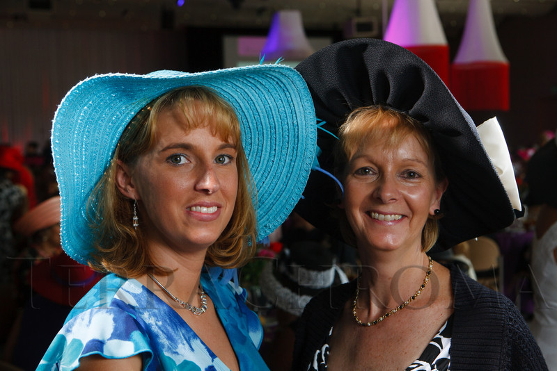 "Edwina Soles and Margaret Kurtz.  ""Women With Hattitude--Act Seven,"" benefiting the Denver Center for Perfroming Arts' Women's Voices Fund, at the Donald R. Seawell Grand Ballroom, Denver Center for Performing Arts, in Denver, Colorado, on Thursday, May 3, 2012.<br /> Photo Steve Peterson"