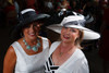 "Cindi Burge and Kristina Davidson.  ""Women With Hattitude--Act Seven,"" benefiting the Denver Center for Perfroming Arts' Women's Voices Fund, at the Donald R. Seawell Grand Ballroom, Denver Center for Performing Arts, in Denver, Colorado, on Thursday, May 3, 2012.<br /> Photo Steve Peterson"