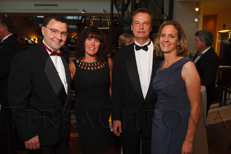 "Dr. Dan and Diane Theodorescu, Paul Jedlicka, and Heide Ford.  Hope Ball, themed ""Dedicated to the Ones We Love,"" benefiting the Cancer League of Colorado, at the Hyatt Regency Denver Tech Center in Denver, Colorado, on Saturday, May 5, 2012.<br /> Photo Steve Peterson"