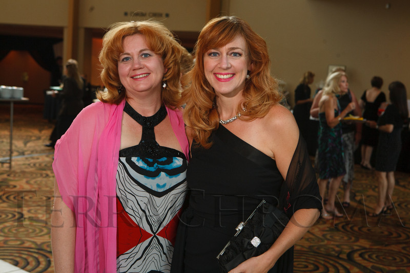 "Sisters:  Cathrin Crampton (cq) and Christin Crampton Day.  Hope Ball, themed ""Dedicated to the Ones We Love,"" benefiting the Cancer League of Colorado, at the Hyatt Regency Denver Tech Center in Denver, Colorado, on Saturday, May 5, 2012.<br /> Photo Steve Peterson"