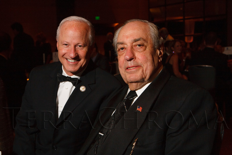 "Mike Coffman and Mort Marks.  Hope Ball, themed ""Dedicated to the Ones We Love,"" benefiting the Cancer League of Colorado, at the Hyatt Regency Denver Tech Center in Denver, Colorado, on Saturday, May 5, 2012.<br /> Photo Steve Peterson"