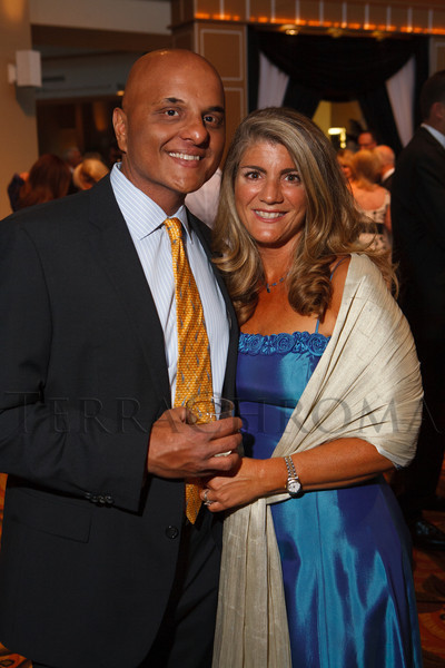 "Raj and Nathalie Dani.  Hope Ball, themed ""Dedicated to the Ones We Love,"" benefiting the Cancer League of Colorado, at the Hyatt Regency Denver Tech Center in Denver, Colorado, on Saturday, May 5, 2012.<br /> Photo Steve Peterson"