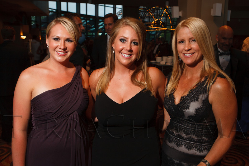 """Kaitlyn Herbert, Erica Montgomery, and Kara Borchers Amman.  Hope Ball, themed """"Dedicated to the Ones We Love,"""" benefiting the Cancer League of Colorado, at the Hyatt Regency Denver Tech Center in Denver, Colorado, on Saturday, May 5, 2012.<br /> Photo Steve Peterson"""