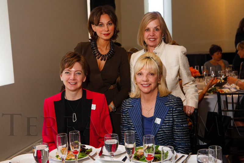 "Visiting from the Phoenix Art Museum:  Pune Ghebleh, Jane Jozoff, Dennita Sewell (Curator of Fashion Design), and Cathy Dickey.  ""Luncheon by Design: Yves Saint Laurent & Pierre Bergé,"" benefiting the Department of Architecture, Design & Graphics, at the Denver Art Museum in Denver, Colorado, on Wednesday, May 9, 2012.<br /> Photo Steve Peterson"