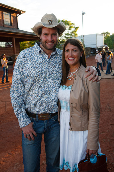 Michael and Amy Schulte.  The Barn Party, benefitting Denver Active 20-30 Children's Foundation, at the Polo Reserve Development in Littleton, Colorado, on Saturday, May 19, 2012.<br /> Photo Steve Peterson