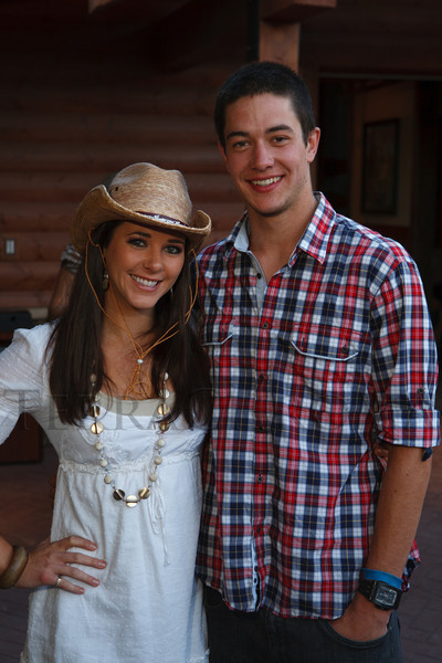Erica Beard and Sean Brizendine.  The Barn Party, benefitting Denver Active 20-30 Children's Foundation, at the Polo Reserve Development in Littleton, Colorado, on Saturday, May 19, 2012.<br /> Photo Steve Peterson