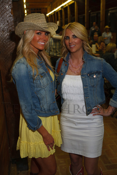 Candace Wilson and Caitlyn Fagan.  The Barn Party, benefitting Denver Active 20-30 Children's Foundation, at the Polo Reserve Development in Littleton, Colorado, on Saturday, May 19, 2012.<br /> Photo Steve Peterson