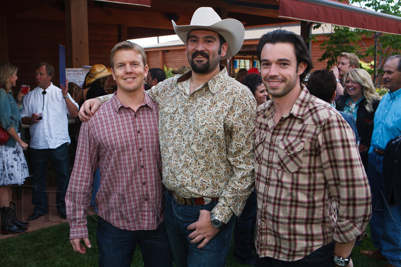 Kip Hertzenberg, Luke Carleo, and David Craig.  The Barn Party, benefitting Denver Active 20-30 Children's Foundation, at the Polo Reserve Development in Littleton, Colorado, on Saturday, May 19, 2012.<br /> Photo Steve Peterson