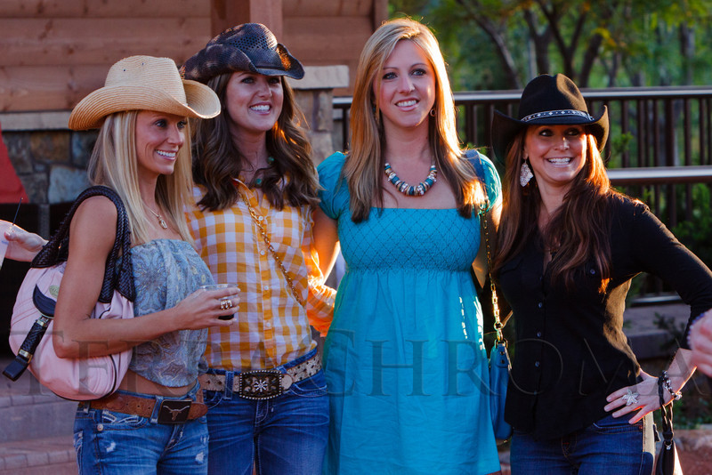 Rachel Streur, Michelle Young, Amelia Earhart, and Tina Rhodes.  The Barn Party, benefitting Denver Active 20-30 Children's Foundation, at the Polo Reserve Development in Littleton, Colorado, on Saturday, May 19, 2012.<br /> Photo Steve Peterson