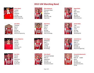 Meet The 2012  UW Band