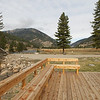 The 320 Ranch built this lovely deck by the Gallatin River.