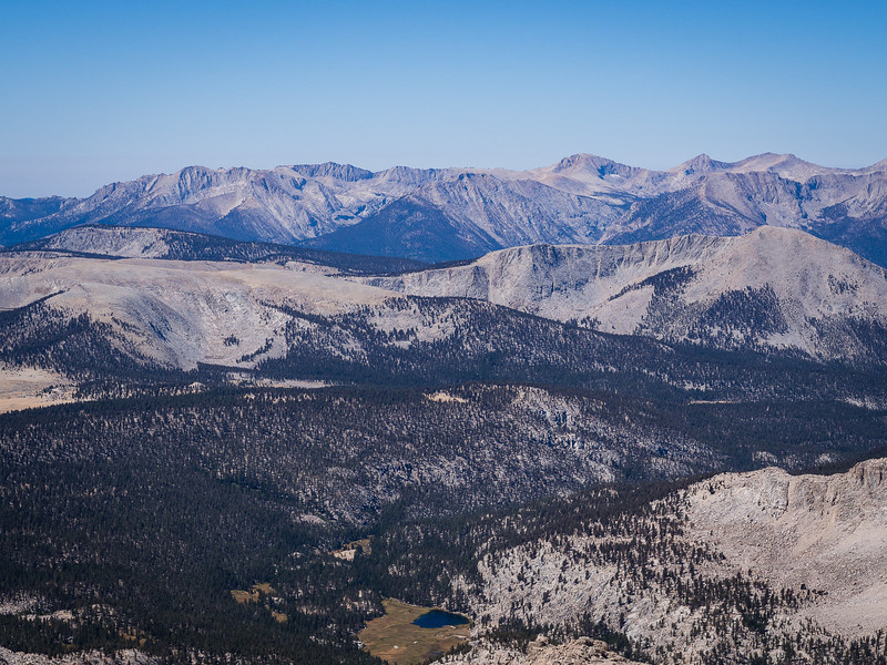 Looking over the southern Sierra