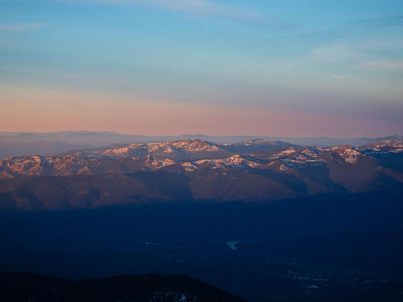 Klamath range and west