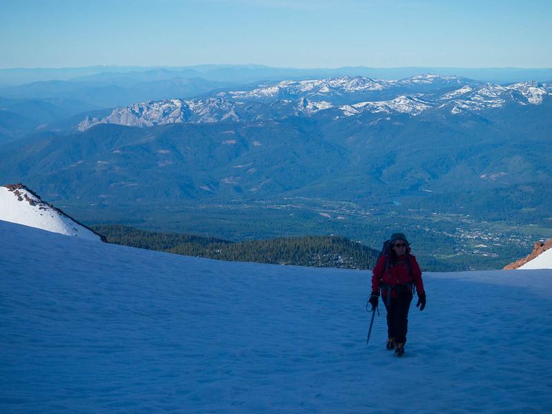 Rounding the ridge