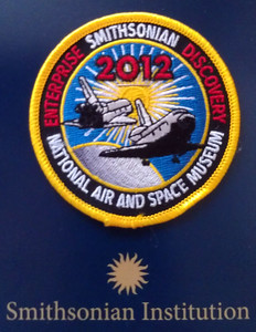 Commemorative patch issued by the Smithsonian Institution for the occasion