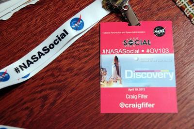 #NASAsocial #OV103 credential