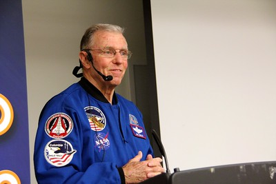 Maj. Gen. Joe Engle, the only astronaut to fly both Enterprise and Discovery