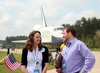 Vicki Portway (Manager of the NASM Web & New Media Division and @sluggernova) and NASA acting social media manager John Yembrick (@yembrick)