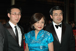Kevin Ding, Xuejun Mao, with Gala Co-Chairmen Annso Wang_credit Linsley Lindekins