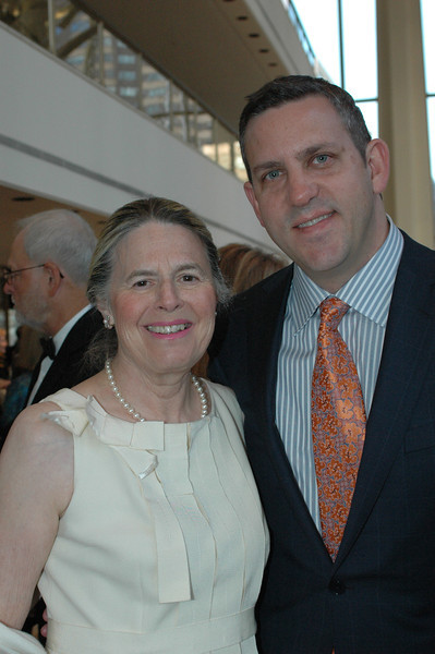 Board Member Honey Kurtz and Philharmoninc Executive Director Designate Matthew VanBesien<br /> <br /> Photo Credit: Linsley Lindekins