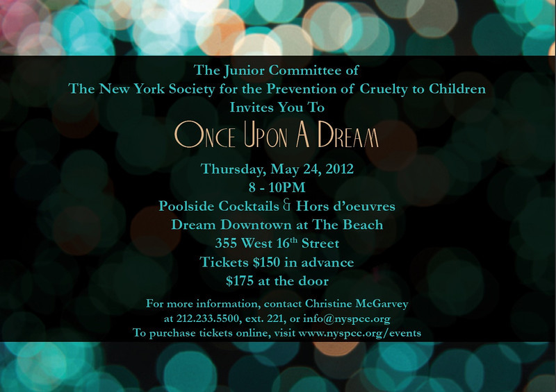 "NEW YORK – MAY 24:  The New York Society for the Prevention of Cruelty to Children Annual Junior Committee Spring Benefit ""Once Upon A Dream""  on Thursday, May 24, 2012 at Dream Hotel Downtown at 355 West16th Street in the Meatpacking District in New York City (Photos by Christopher London ©2012 ManhattanSociety.com)"