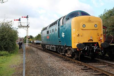 55002 running round at Wansford.