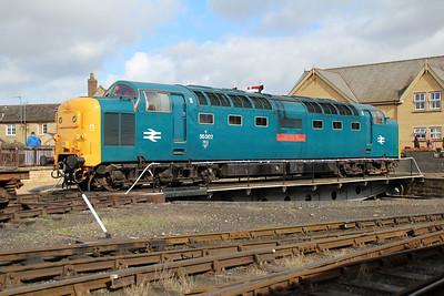 55002 'Kings Own Yorkshire Light Infantry' Wansford turntable.