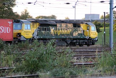 70020 1812/4m41 Felixstowe-Crewe passes Peterboro.