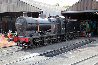 Steam 44422 sits on Wansford Shed.