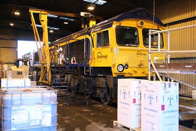 66737 inside GBRF Peterboro Depot.