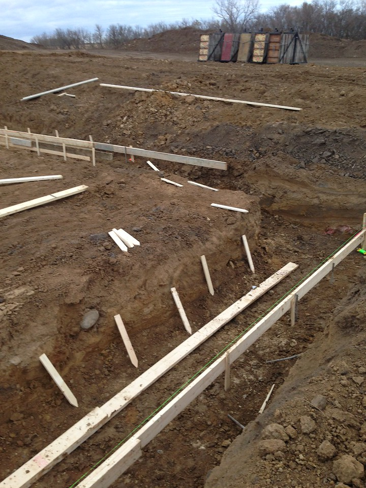 Footings are ready to go.