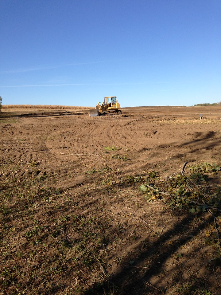 Site on the first day of earth moving, September 26, 2012.