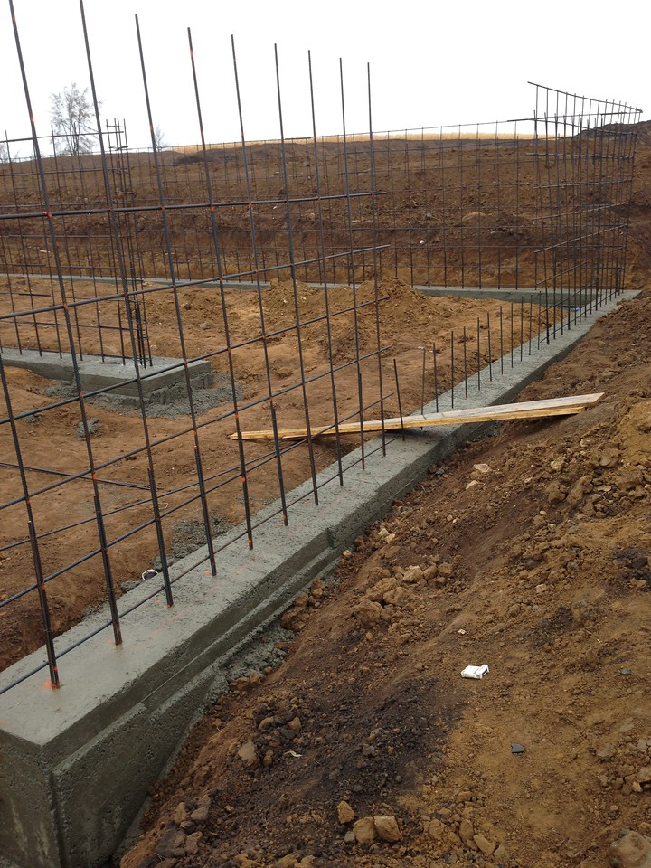 Footings have been poured, ready for the walls.
