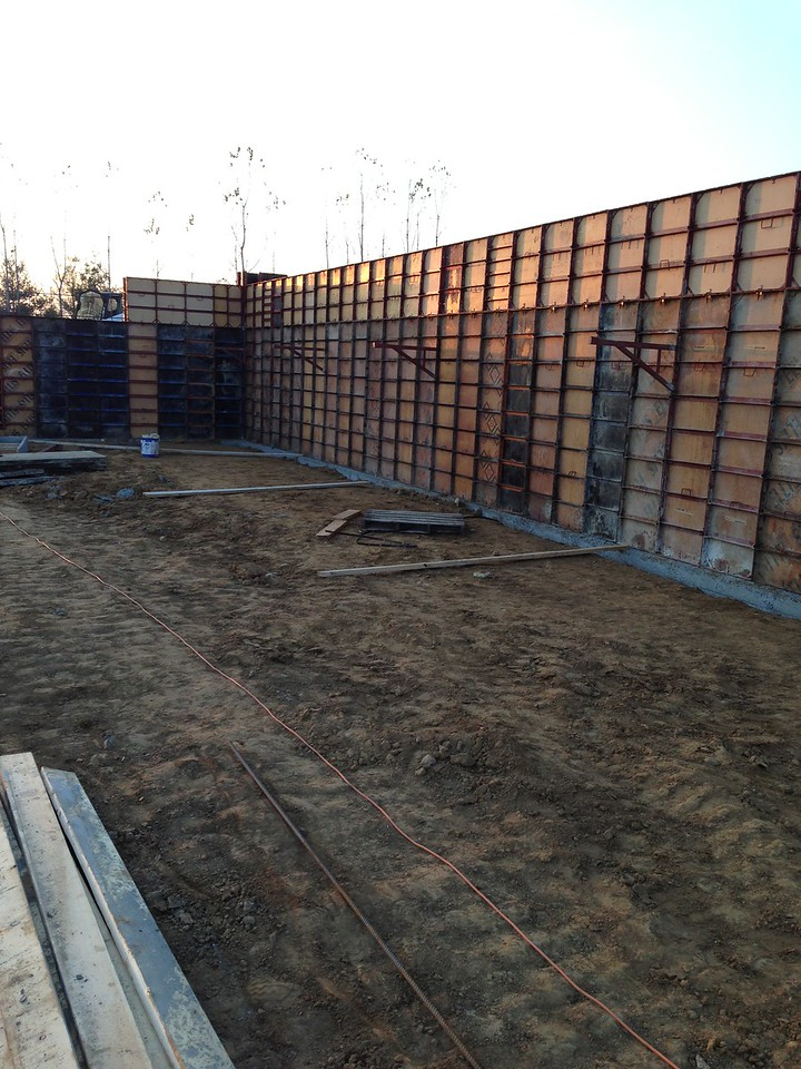 Walls ready to be poured.