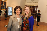 Pam Schafler and Chelsea Clinton