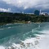 Niagara River and boats