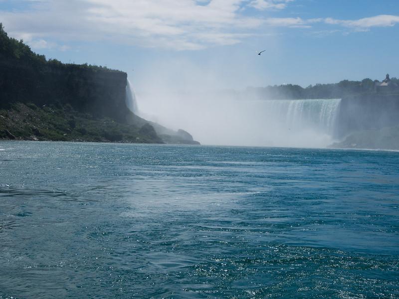 The falls, behind