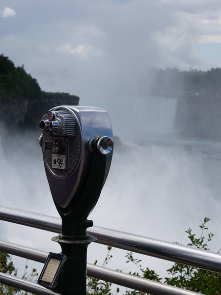 Binoculars by the falls