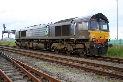 66302 on Teesport Potash sidings 23/06/12