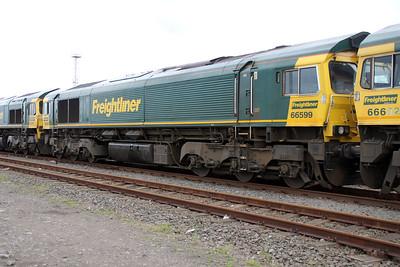 66599 stabled on Teesport Potash sidings 23/06/12