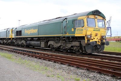 66602 stabled on Teesport Potash sidings 23/06/12